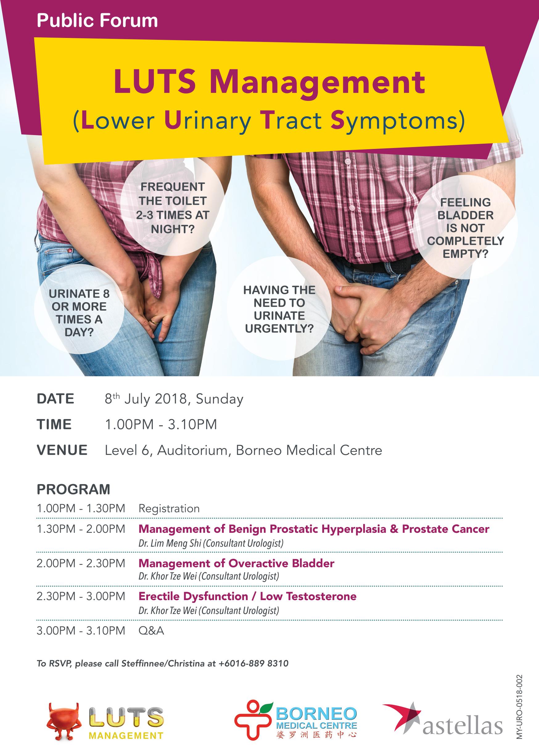 Public Forum : Lower Urinary Tract Symptoms